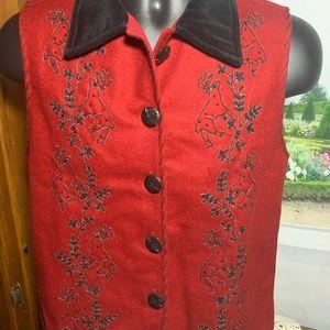 Lifestyle  70% wool vest beautiful Christmas T 18